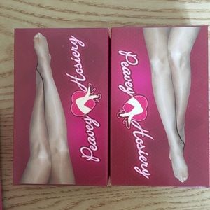 New Peavey Footed Champagne Pantyhose A B C D Q